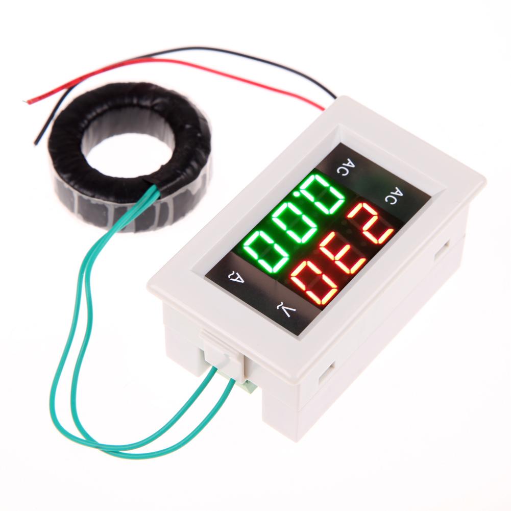 Digital-Volt-Ampere-Amp-Meter-Voltmeter-Guage-font-b-AC-b-font-Voltage-Amp-Meter-with